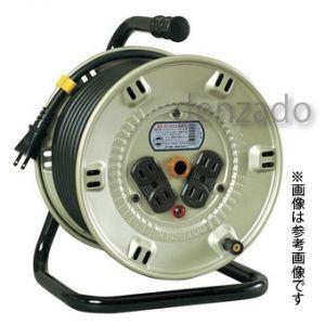 日動工業 100V 一般型ドラム アース無 2P 15A 125V コンセント数:4 長さ30m VCT2.0×2 NP-304D|dendenichiba