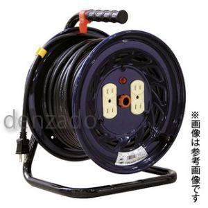 日動工業 100V 一般型ドラム アース無 2P 15A 125V コンセント数:4 長さ30m VCT2.0×2 NF-304D|dendenichiba