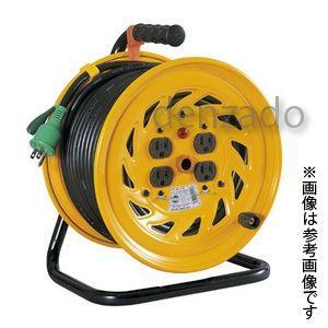 日動工業 100V 一般型ドラム アース付 接地 2P 15A 125V コンセント数:4 長さ30m VCT2.0×3 NF-E34|dendenichiba