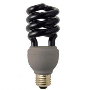 ジェフコム 電球形蛍光ランプ スパイラル形 ブラックライト E26口金 EFD23-SSBK|dendenichiba