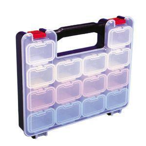 【特長】●工具もパーツも自由自在に収納・整理・携帯できる。 ●透明フタ+透明フタ付小箱だから中身が一...