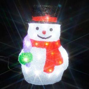 ジェフコム LEDクリスタルモチーフ 雪だるま(中)A STM-F09-MA|dendenichiba