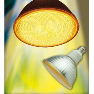 生産完了品 ジェフコム ケース販売 10個セット 蛍光ランプ形ビーム電球 PAR38型 120W相当 E26口金 イエロー EFR23-SY_set|dendenichiba