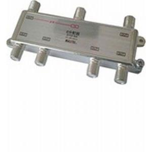 MAXTEL CS/BS/地デジ対応 6分配器(1端子電流通過型) DYD-6A|dendenichiba