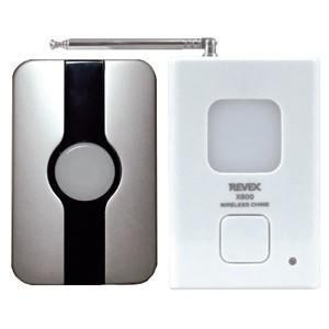 リーベックス 玄関チャイムセット 送信機防雨型 電池式 ワイヤレス 配線不要 X810G|dendenichiba