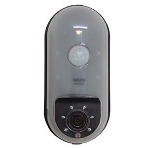 リーベックス SDカード録画式センサーカメラ CMOS-30万画素 電池式 センサーライト付 SD1...