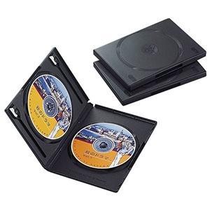 ELECOM DVDトールケース 2枚収納 3枚セット ブラック CCD-DVD04BK|dendenichiba
