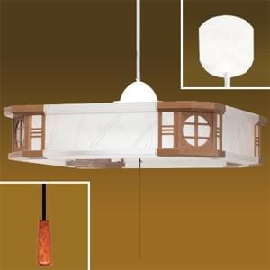 生産完了品 タキズミ LEDペンダントライト 和風 〜6畳用 昼光色相当 高さ調節可能(コード収納型) プルスイッチ付 TV60009|dendenichiba