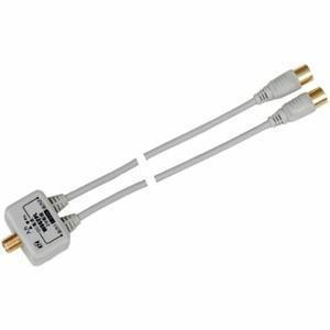 日本アンテナ 2分配器 CS・BS対応 全電通タイプ 屋内用 DC専用 金メッキ仕様 出力2C三重シールドケーブル付 WDG2PL|dendenichiba