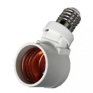 ヤザワ LED電球専用可変式ソケット E17口金→E26口金 ホワイト SF1726V|dendenichiba