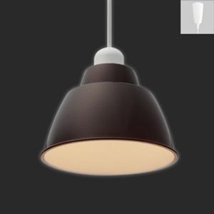 アイリスオーヤマ LEDペンダントライト Gammel Plas S 一般電球40W形相当 電球色相当 E17口金 引掛シーリング取付式 ブラウン PL5L-E17PE1-T|dendenichiba