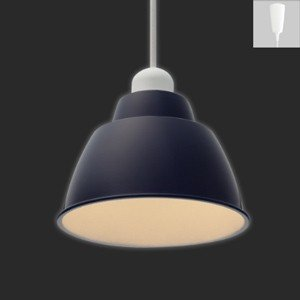 アイリスオーヤマ LEDペンダントライト Gammel Plas S 一般電球40W形相当 電球色相当 E17口金 引掛シーリング取付式 ネイビー PL5L-E17PE1-L|dendenichiba