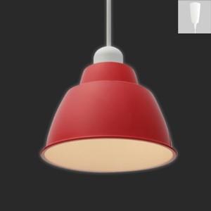 アイリスオーヤマ LEDペンダントライト Gammel Plas S 一般電球40W形相当 電球色相当 E17口金 引掛シーリング取付式 レッド PL5L-E17PE1-R|dendenichiba