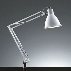 生産完了品 山田照明 スタンドライト クランプ式 電球形蛍光灯EFA10形(電球色)×1 ホワイト Zライト Z-00W dendenichiba