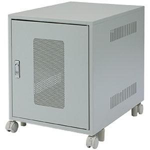 サンワサプライ 省スペース19インチマウントボックス 6U 鍵付き平面ハンドル CP-027K