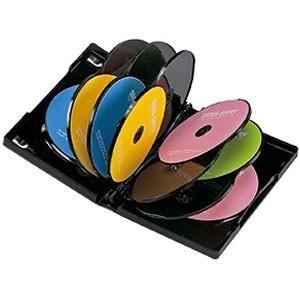 サンワサプライ DVDトールケース 12枚収納 ダブルサイズ インデックスカード付 ブラック 3枚セット DVD-TW12-03BK|dendenichiba