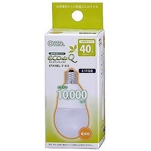 オーム電機(OHM) ケース販売 12個セット 電球形蛍光灯 エコデンキュウ A形 白熱電球40W形相当 電球色 E17口金 EFA10EL/7-E17_set|dendenichiba