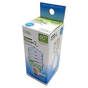 オーム電機(OHM) 電球形蛍光灯 エコデンキュウ スパイラル形 白熱電球60W形相当 昼光色 E26口金 EFD15ED/12-SPN|dendenichiba