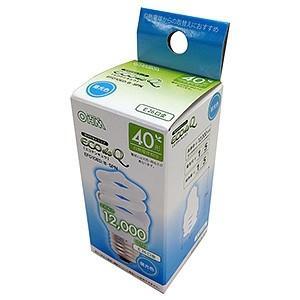オーム電機(OHM) 電球形蛍光灯 エコデンキュウ スパイラル形 白熱電球40W形相当 昼光色 E26口金 EFD10ED/8-SPN dendenichiba