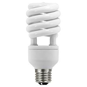 オーム電機(OHM) 電球形蛍光灯 エコデンキュウ スパイラル形 白熱電球100W形相当 昼光色 E26口金 EFD25ED/18-SP|dendenichiba