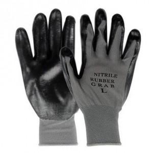 勝星産業 ニトリルグラブ(背ヌキ加工) 薄手タイプ 5双組 サイズ:M 黒 #660M