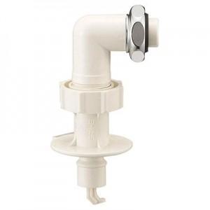 三栄水栓製作所 洗濯機用L型ニップル 曲げ角度:90° 自動ストップ機能付 PY123-40TVX-16