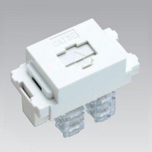 東芝 LAN用モジュラーコンセント(CAT5E対応) ニューホワイト WIDE i/E's配線器具 NDG8068(WW)|dendenichiba