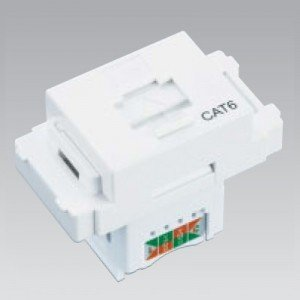 東芝 LAN用モジュラーコンセント扉式ばね付(CAT6) ニューホワイト WIDE i/E's配線器具 NDG8088(WW)|dendenichiba