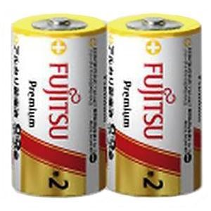 富士通 アルカリ乾電池 プレミアムタイプ 単2形 2個パック シュリンクパック LR14FP(2S)|dendenichiba