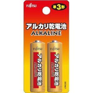 富士通 アルカリ乾電池 単3形 2個パック ブリスターパック LR6H(2B)|dendenichiba