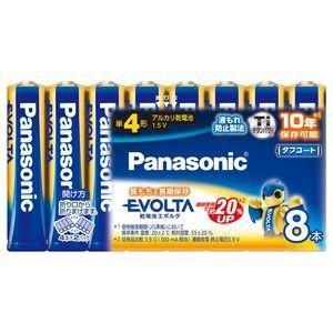 パナソニック アルカリ乾電池エボルタ単4形8本パック LR03EJ/8SW|dendenichiba