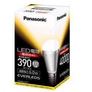 パナソニック LED電球 EVERLEDS エバーレッズ 小形電球タイプ 下方向タイプ 25W形相当 電球色相当 全光束390lm E17口金 LDA6L-E17