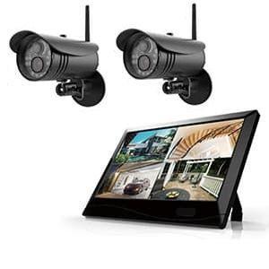 マザーツール カメラ2台セット 高解像度ワイヤレスセキュリティカメラシステム 防水型 200万画素 10.1型LCDタッチスクリーン MT-WCM300カメラ2台セット|dendenichiba