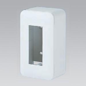 パナソニック 露出増設ボックス コンセント用 3コ用 ラウンド ホワイト WVC7003W|dendenichiba