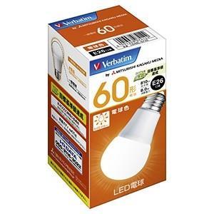 三菱ケミカルメディア LED電球 一般電球形 60W形相当 電球色 E26口金 LDA8L-G/V6 dendenichiba
