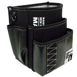マーベル 腰袋 電工ポケット 三段タイプ サイズ:縦200×横210×厚さ150mm ホワイト MDP-93AW|dendenichiba