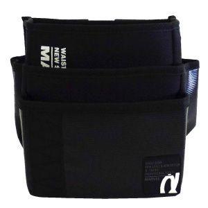 マーベル 腰袋 電工ポケット ワイド三段タイプ サイズ:縦200×横250×厚さ170mm ブラック MDP-93ABKL|dendenichiba