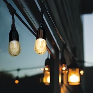 電材堂 ストリングライト LED電球×6灯 電球色 長さ4.2m STRING06LDZN dendenichiba