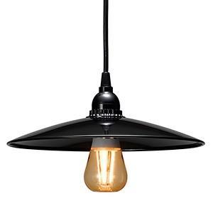 在庫限り 電材堂 LEDレトロペンダントライト 電球色 口金E26 PDR05L01BKDNZ|dendenichiba
