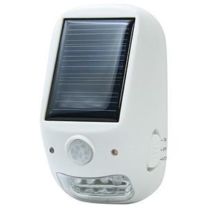 電材堂 屋外用ソーラー式LEDセンサーライト 乾電池式 防沫形 高輝度白色LED×4灯 NL57WHDNZ dendenichiba
