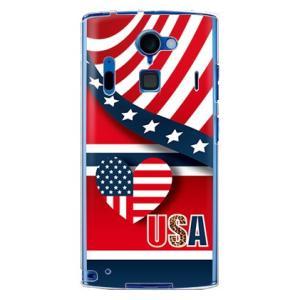 """ARROWS A 202F カバー/ケース (アメリカ◆""""Hello""""USA)"""