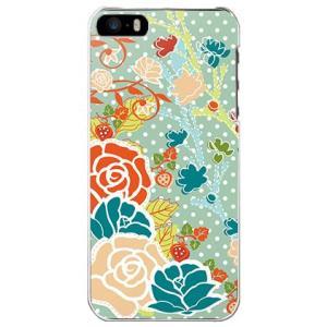 iPhone 5/5s/SE ケース カバー (お花/大人ガール◆Apple Green◆)