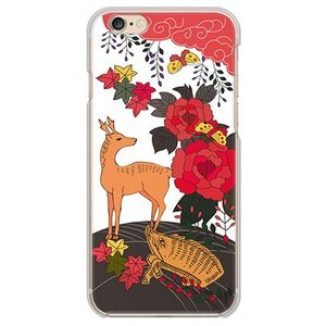 iPhone 6/6s ケース カバー (お花/花札《猪鹿蝶》)
