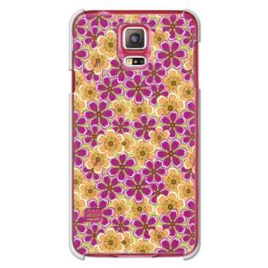 ・黄色と紫の花がインパクトを与えるGALAXY S5 SC-04F/SCL23  ケース/カバー  ...