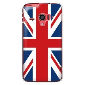 ・イギリス国旗をプリントしたdocomo AQUOS PHONE ZETA SH-06E カバー/ケ...