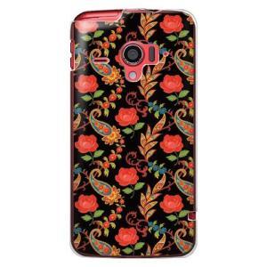 ・薔薇の柄が高級感を醸し出しているdocomo AQUOS PHONE ZETA SH-06E カバ...