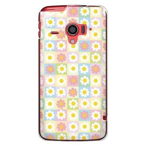 ・パステルカラーとお花の模様が優しい印象のdocomo AQUOS PHONE ZETA SH-06...