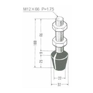 角田興業 M12×66 クランプ用圧えボルト トグルクランプ用ゴム付ボルト|dendouki2