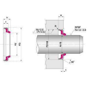 NOK パッキン DKH203269 (AR0995F5) DKH型 ダストシール|dendouki2