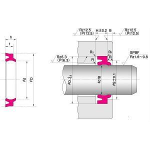NOK パッキン LBH606856.5F (CL0107C2) LBH型 ダストシール dendouki2
